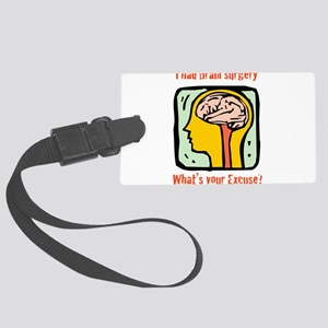 Brain-3-[Converted]b Large Luggage Tag